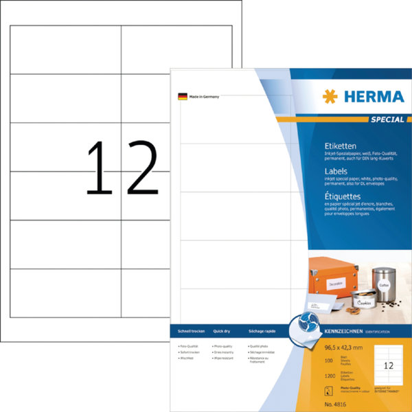 ETIKET HERMA INKPRINT 4816 96.5X42.3MM