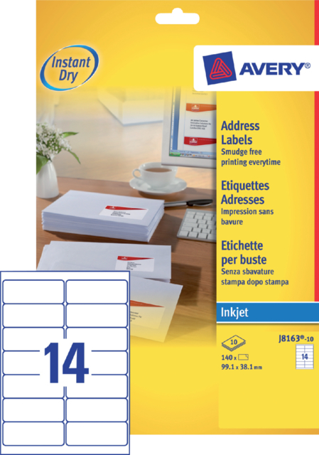 ETIKET AVERY J8163-10 99.1X38.1MM 140ST