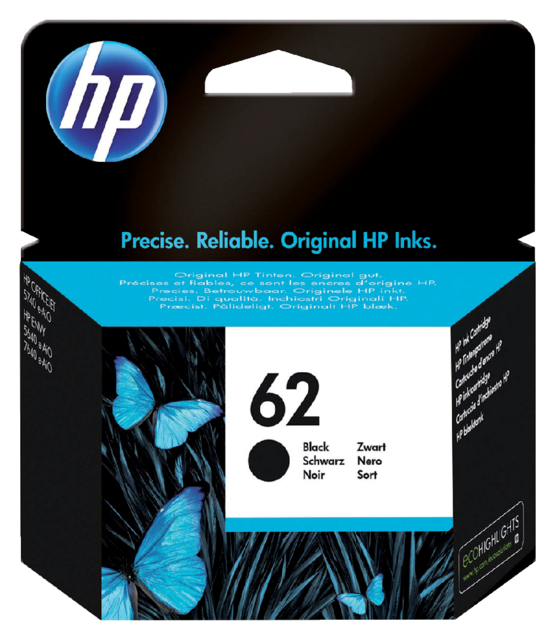 INKCARTRIDGE HP 62 C2P04AE ZWART