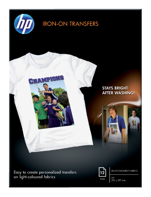 T-SHIRT TRANSFER HP C6050A A4 170GR